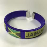 ジャマイカ直輸入  JAMAICA柄ブレスレット PURPLE
