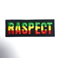 ジャマイカ直輸入 ワッペン 「RASPECT」ラスタ アイロン圧着可能
