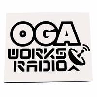 OGA [JAH WORKS] / OGA WORKS RADIO カッティングステッカー 黒 ※特典 オガラジ10月放送*Lovers Selection オマケCD付