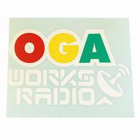 OGA [JAH WORKS] / OGA WORKS RADIO ラスタカッティングステッカー ※特典 オガラジ日本語レゲエ*MIX CD付き