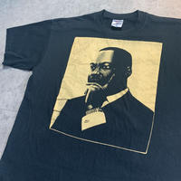 USED!一点物ビンテージ古着『MARTIN LUTHER KING T-SHIRTS BLACK 両面プリント』◉TURTLE MAN's CLUB 防水ステッカー付き