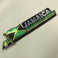 ジャマイカ 直輸入!大 JAMAICA国旗カラーステッカー キラ ※数量限定