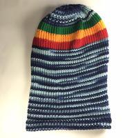 ジャマイカ直輸入!JR GONGと同じデザイナーが作ったハンドメドニット帽 (ラスタカラー)