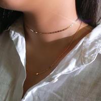 24kgf ダイヤモチーフ2連ネックレス/019005