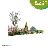 ガーデン植栽パースセット  GP003_10