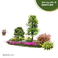 ガーデン植栽パースセット  GP001_06