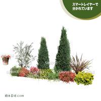 ガーデン植栽パースセット  GP001_02