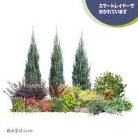 ガーデン植栽パースセット  GP004_02