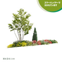 ガーデン植栽パースセット  GP003_05