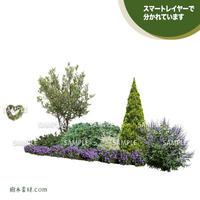 ガーデン植栽パースセット  GP001_05