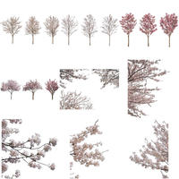 桜 切り抜き素材セット  - Cherry Blossoms   sa_002