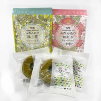 ぷれみあむT-Bagシリーズ2種(緑茶・和紅茶)  抹茶焼きドーナツ3個 セット