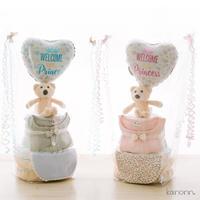 『kasane』おむつケーキ2段♡出産祝いギフト(カラー・おむつサイズ選べます)