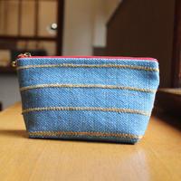手織り 絹ポーチ