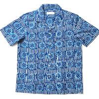 Kevin Seah ブロックプリントシャツ⑤