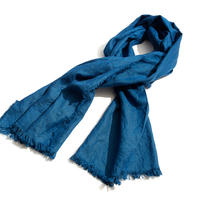 THROW 本藍染めリネンストール (Blu Giotto)