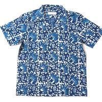 Kevin Seah ブロックプリントシャツ④