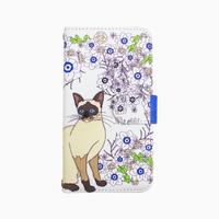 Smartphone case-Meow-  ミラー&チェーン付きタイプ