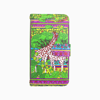 Smartphone case-The world of giraffe- ミラー&チェーン付きタイプ