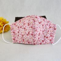 ポケット付き大人用立体マスク(M)【Flower】