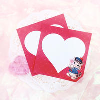 №44 Valentine lovelycats memo
