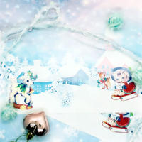 №25 White Xmas animals pepar
