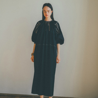 """◯PRE ORDER○CLANE クラネ  """"SMOCK EMBROIDERY ONE PIECE"""" スモックエンブロイダリーワンピース"""
