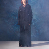 """Name.ネーム""""DENIM LACE UP WIDE LEG JEANS""""デニムレースアップワイドレッグジーンズ"""