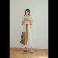 """CLANE クラネ """"BI COLOR PLEATS SKIRT"""" バイカラープリーツスカート"""