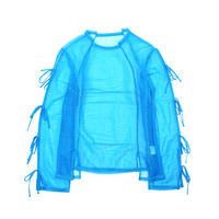 """Name. ネーム. """"SHEER SMOOTH JERSEY LACE UP SLEEVE TEE"""" シアースムーズジャージーレースアップスリーブTシャツ"""