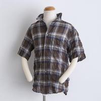 コットン ワイヤー襟 shirts(140cm,160cm)チェック