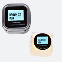 【ama】Brown St Men オレンジ&サンダルウッド コンディショナーバー