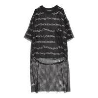 HELLCATPUNKS  HCP-OP-0098 メッシュワンピ&チェーンTシャツ