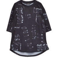 HELLCATPUNKS  HCP-T-0127 SAFETY PINS Tシャツ