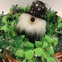 MAMEDENQ モコモコノコ ドット柄HAT帽(ホワイト&ブラック)