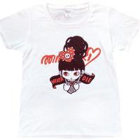 """ミカヅキ    """"NEVER DIE"""" Tシャツ [ T-009 ]"""