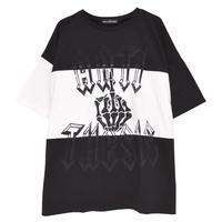 HELLCATPUNKS  HCP-T-0119 ボーンハンド切り替えビッグTシャツ