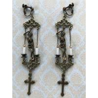 Phantom Jewelry 首吊り骸骨と十字架のイヤリング