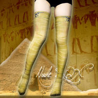 Nude  SOX  MDN-004  Mad Science knee high socks<ファラオ包帯/Pharaoh bandage>