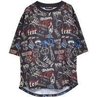 HELLCATPUNKS  HCP-T-0125 総柄Tシャツ