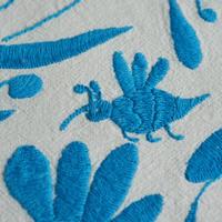 オトミ刺繍クッションカバー(ブルー)
