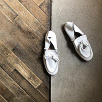 【U-807-15】TASSEL SLIPON  (SHRINK WHITE)