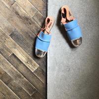 【U-112-2005】 BUMPY SANDAL (FOILED SILVER / SMOOTH BLUE / SMOOTH ORANGE)