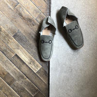【U-112-1812】EMBROIDERY LOAFER (SUEDE GRAY)