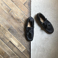 【U-807-15】TASSEL SLIPON  (SHRINK BLACK)