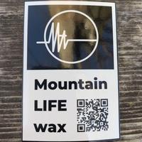 Mountain LIFE wax  ミニステッカー   黒枠有タイプ