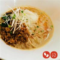 <Veganグルテンフリー>〆の坦々麺セット(大豆ミート入り)  坦々スープ×2パック 米粉麺×2袋