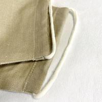 日本製 / ワイルドシルク100%マスク / 草木染  / 薄みどり(Wild Silk)