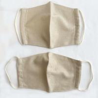 日本製  / ワイルドシルク100%マスク /  草木染  / アイボリー ( 緑茶 )(Wild Silk)