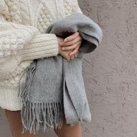 calme wool stole / gray